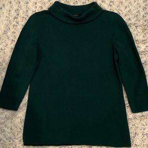 Talbots Audrey 3/4 Sleeve Hunter Green Knit